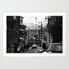 Winter Kyoto Art Print