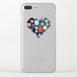 Heart of Dice Clear iPhone Case