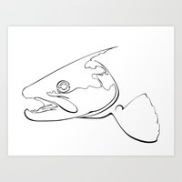 trout Art Prints featuring trout  by Ed Hepp