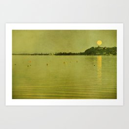 moon and lake stories 3 Art Print
