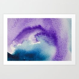 Paint-violet,blue,pink and white Art Print