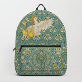 Hoopoe Parrot and Citrus Backpack