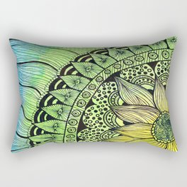 sunflower tangle Rectangular Pillow