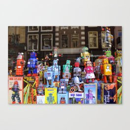 ROBOTS IN AMSTERDAM Canvas Print