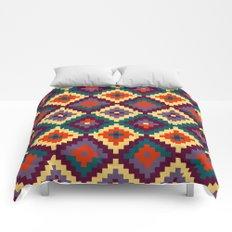 Aztec pattern - purple, red, blue, yellow Comforters