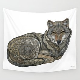 Norse Wolf Wall Tapestry