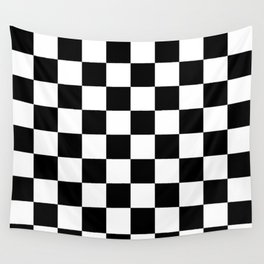 ccd956c344 Black   White Checker Checkerboard Checkers Wall Tapestry