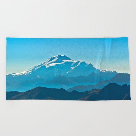The top of Elbrus Beach Towel
