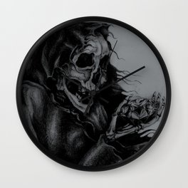 Skeleton Holding Diamond Wall Clock