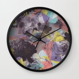 Modern abstract colorful geometric floral pattern Wall Clock