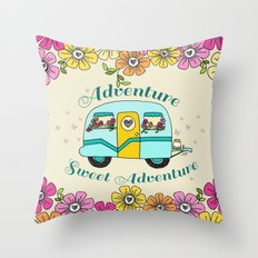 Camper Love Throw Pillow