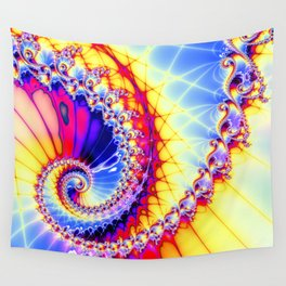 BBQSHOES™: Wu Wei Spiral Fractal Psychedelic Art Wall Tapestry