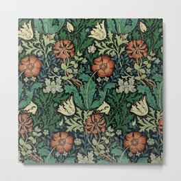 William Morris Compton Floral Art Nouveau Pattern Metal Print