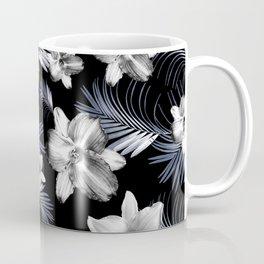 Tropical Flowers Palm Leaves Finesse #4 #tropical #decor #art #society6 Coffee Mug