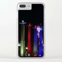 KC Night Colors Clear iPhone Case