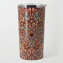 Mandala in Brown Tones Travel Mug