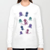 squid Long Sleeve T-shirts featuring Squid by Steph Chen