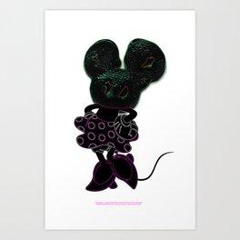 Go Vegan 2BC Crystalised by Thom Van Dyke & Ub Iwerks Art Print