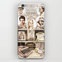 tenenbaums iPhone & iPod Skins featuring The Royal Tenenbaums by Aaron Bir by Aaron Bir