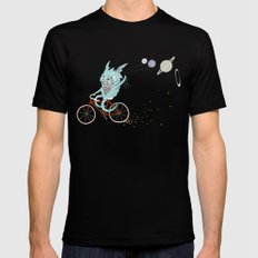 Bunny in Space Black MEDIUM Mens Fitted Tee