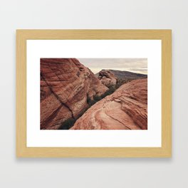 Desert mountain Framed Art Print