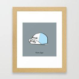 Grimpeur - Coppi cap Framed Art Print