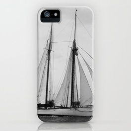 Arthur Curtiss James' schooner Coronet under sail in 1894 iPhone Case