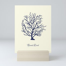 AFE Branch Coral, Navy Mini Art Print