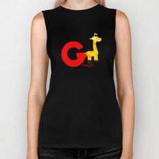 g for giraffe Biker Tank