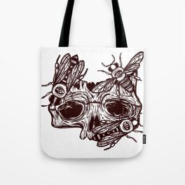 skull and wasps. horseman of the Apocalypse Tote Bag