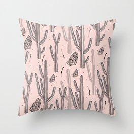 Pink desert secrets. Throw Pillow