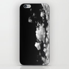 Cotton Clouds (Black and White) iPhone Skin