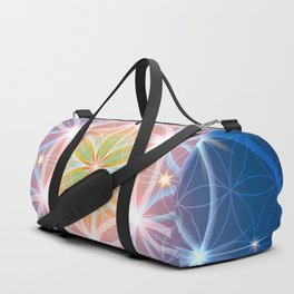 Blue Flower of Life Duffle Bag