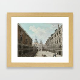 Giuseppe Bernardino Bison ,1762-1844 ,  VIEW IN THE COURTYARD OF THE DOGES'PALACE, VENICE Framed Art Print