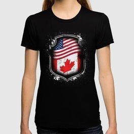 Canadian American Flag T-shirt