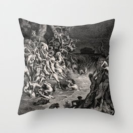 World Destroyed by Water Gustave Dore, 1866 Throw Pillow