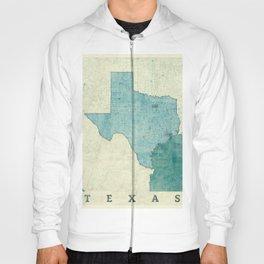 Texas State Map Blue Vintage Hoody