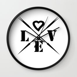 Valentine's day . Love . Wall Clock
