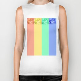 Rainbow Roses Biker Tank