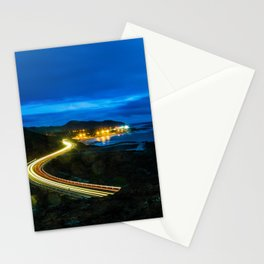 Light Trails by the Sea Stationery Cards