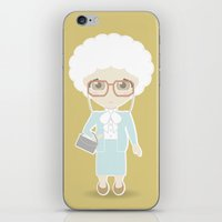 golden girls iPhone & iPod Skins featuring Girls in their Golden Years - Sophia by Ricky Kwong