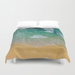 Ocean from the sky Duvet Cover