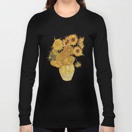Sunflowers of Van Gogh Long Sleeve T-shirt