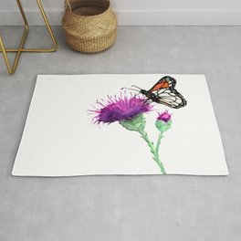 Monarch and Milk Thistle Rug