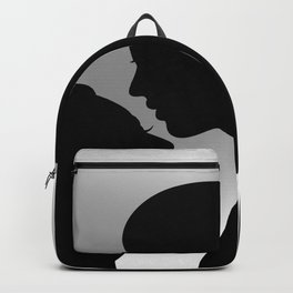 Couple with heart shaped background Backpack