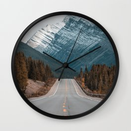 Road to the Mountain Wall Clock