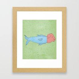 animal fake Framed Art Print