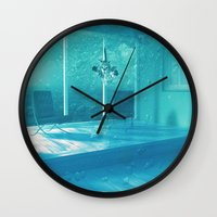 home alone Wall Clocks featuring Home Alone  by Falsework