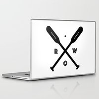 rowing Laptop & iPad Skins featuring Rowing x Oars by KC Design Co.