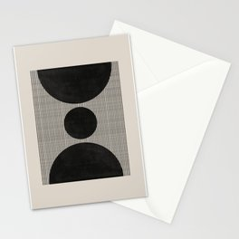Woodblock Geometric Composition Stationery Cards